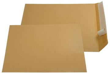 Gallery enveloppen ft 230 x 310 mm, stripsluiting, bruine kraft, doos van 250 stuks