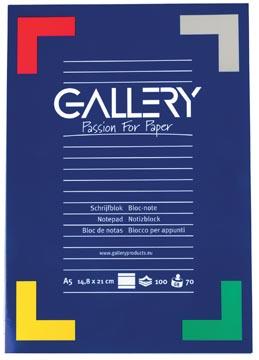 Gallery schrijfblok, ft A5, gelijnd, 100 vel
