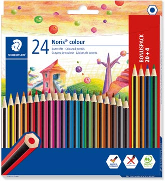 Staedtler Noris colour kleurpotloden, blister van 20 + 4 gratis