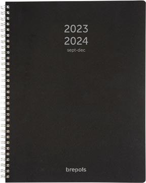 Brepols schoolagenda A4 Polyprop, zwart, 2021 - 2022