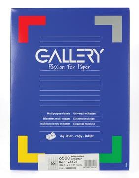 Gallery witte etiketten ft 38,1 x 21,2 mm (b x h), ronde hoeken, doos van 6.500 etiketten