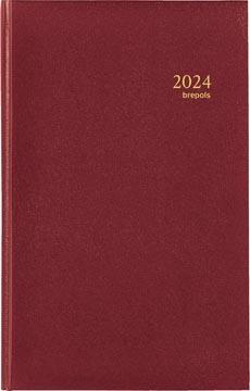 Brepols agenda Interplan Lima 6-talig, bordeaux, 2022
