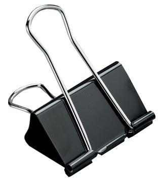 STAR foldbackclip 51 mm, zwart - doos van 12 stuks