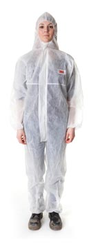 3M beschermende coverall, wit, large
