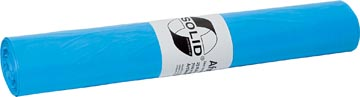 Vuilniszak 20 micron, ft 70 x 110 cm, blauw, rol van 25 stuks