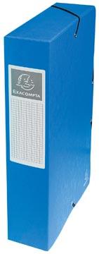Exacompta elastobox Exabox blauw, rug van 6 cm