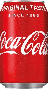 Coca-Cola frisdrank, fat blik van 33 cl, pak van 24 stuks