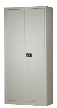Bisley draaideurkast, ft 195 x 91 x 40 cm (h x b x d), 4 legborden, grijs