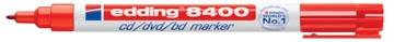 Edding permanent marker voor CD/DVD/BD e-8400 rood