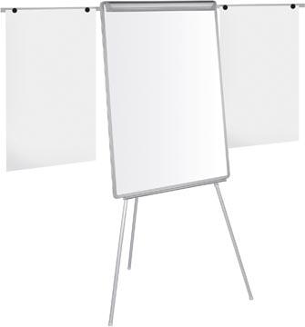 Pergamy magnetisch flipchart met papierklem en 2 uitschuifbare armen ft 107 x 75cm
