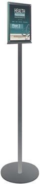 Deflecto dubbelzijdige magnetische vloerstandaard, voor ft A4, zilver