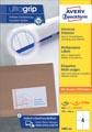 Avery Zweckform 3483-2, Universele etiketten, Ultragrip, wit, 200 vel, 4 per vel, ft 105 x 148 mm